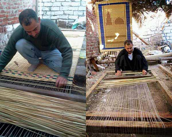 Mohammed Fawzi working on the loom