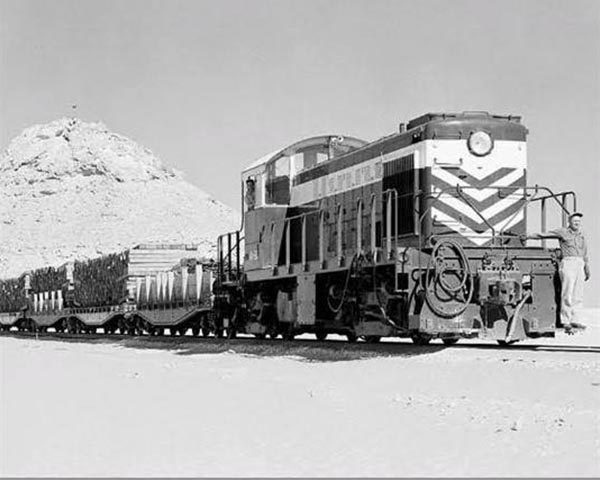 equipment train passing throw Hurghada railway